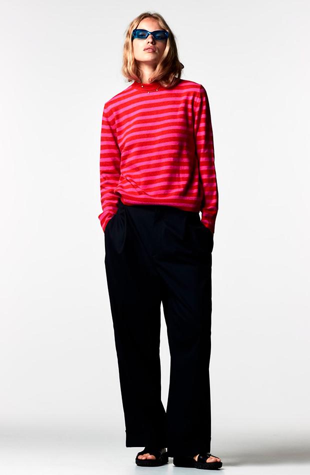estampado de rayas Jersey de Zara