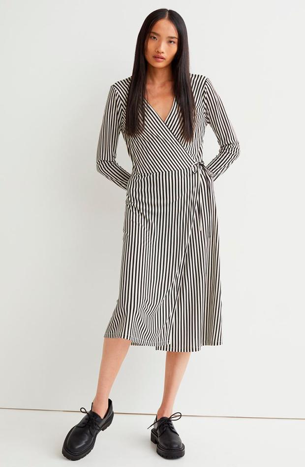 estampado de rayas Vestido de H&M