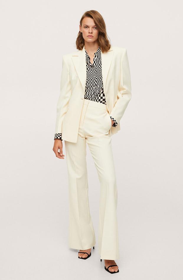 trajes de chaqueta Traje blanco de Mango