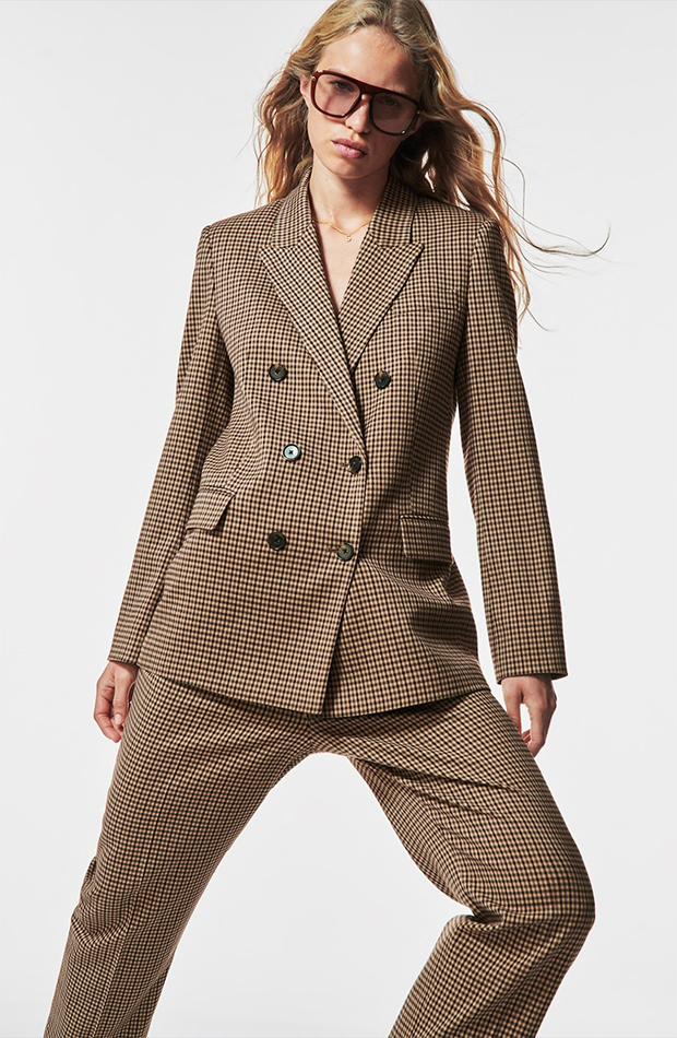 trajes de chaqueta Traje de cuadros de Zara