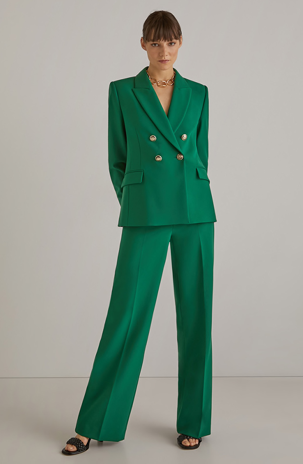 trajes de chaqueta Traje verde de Woman El Corte Inglés