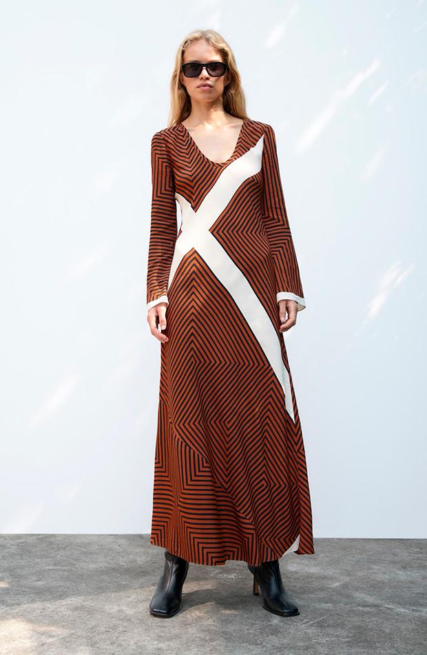 invitadas de septiembre Vestido de rayas de Zara