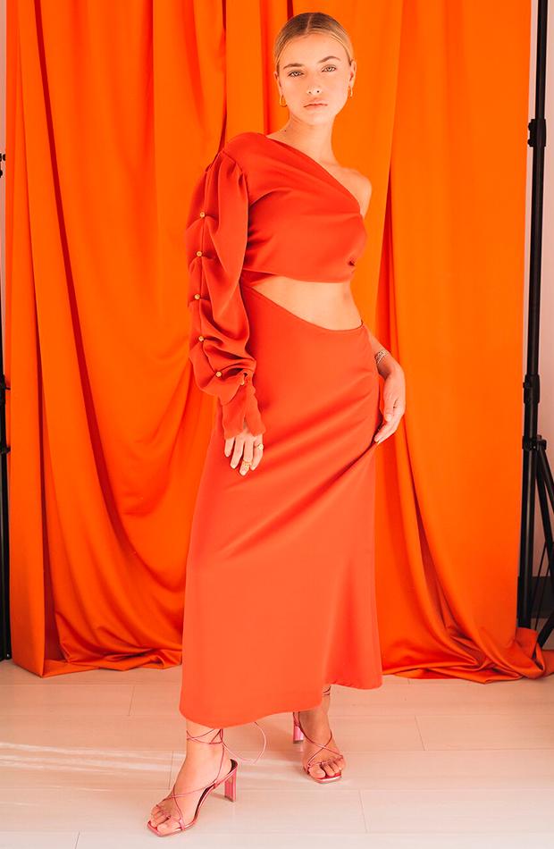 Vestido satinado de Virago Barcelona