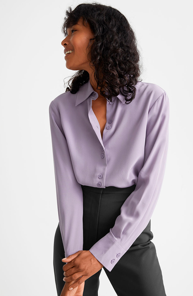 Camisa lila de & Other Stories