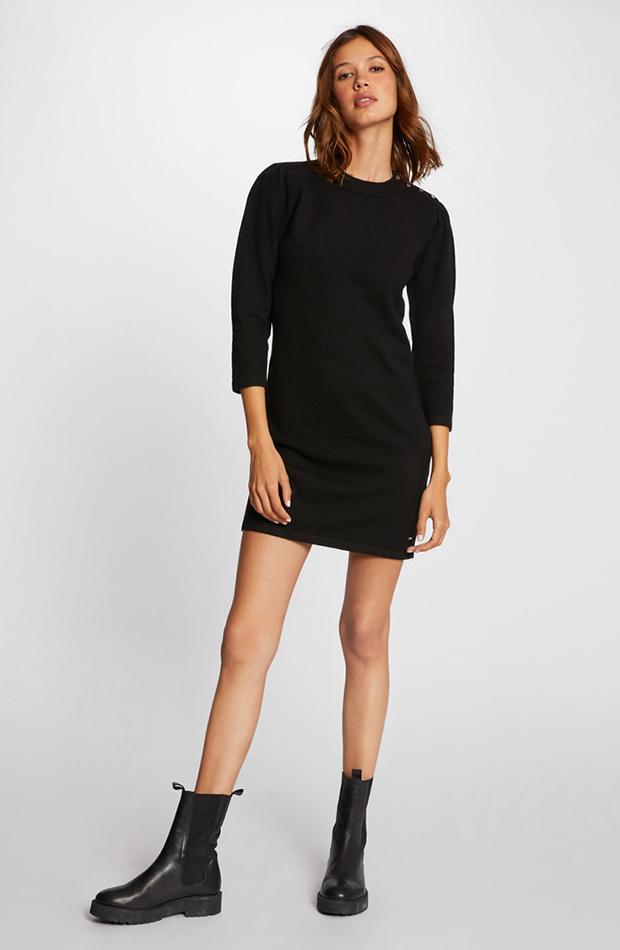 color negro vestido ajustado morgan