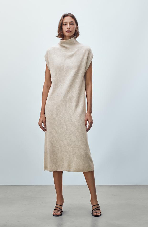 invitadas de otoño Vestido de punto de lana de Massimo Dutti