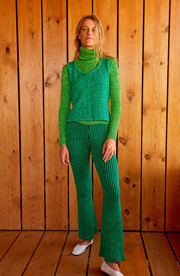 prendas de punto Conjunto verde de Carlota Cahis