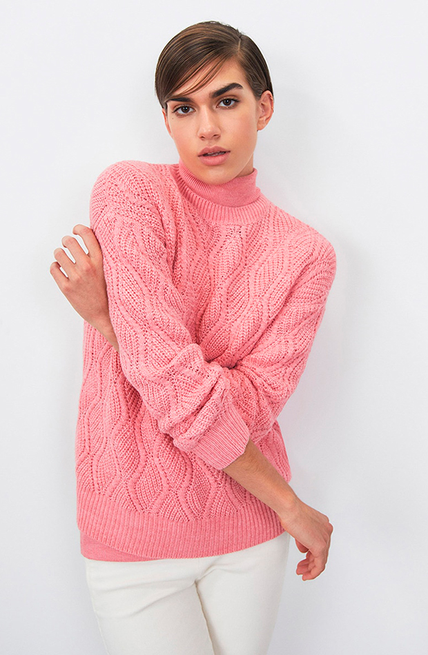 prendas de punto Jersey rosa de Sfera