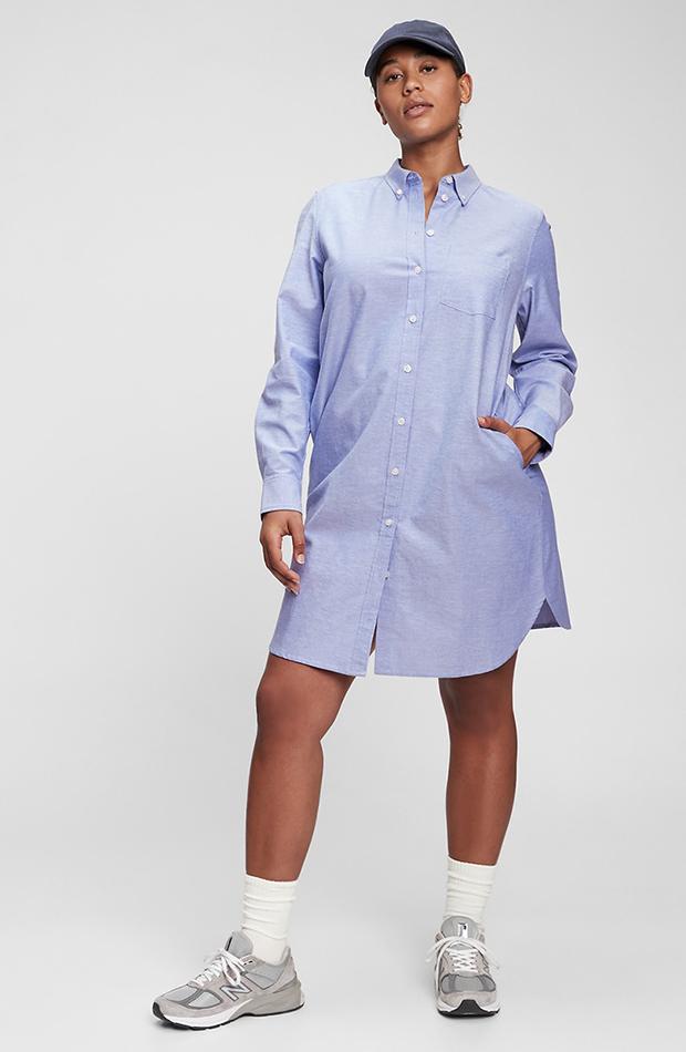 vestidos camiseros Vestido azul de Gap