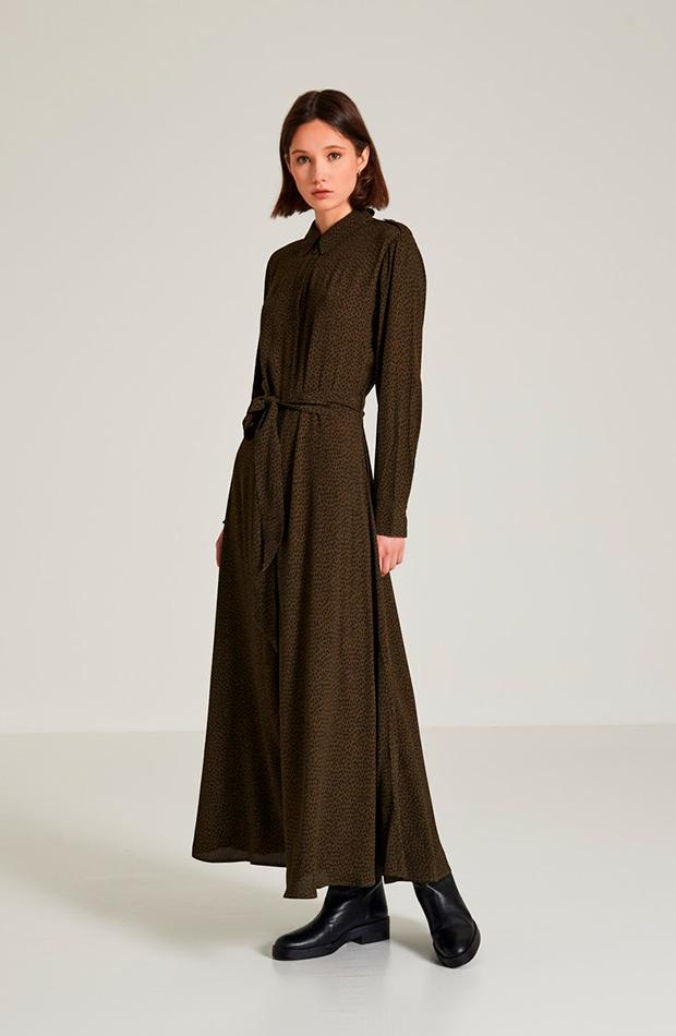 vestidos camiseros Vestido fluido de Massimo Dutti
