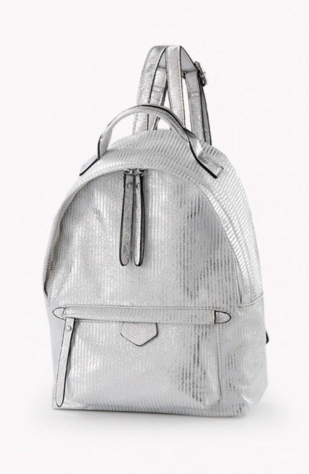 Mochila plateada: bolsos verano y oficina