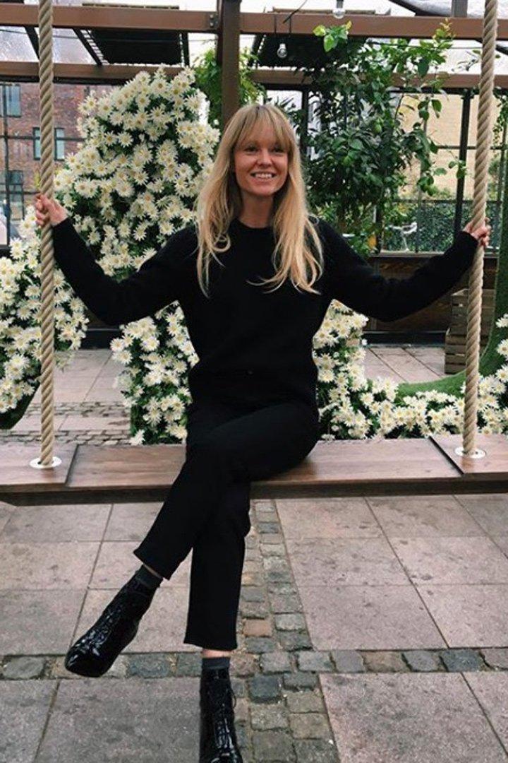 Jeanette Friis Madsen look total black 2018