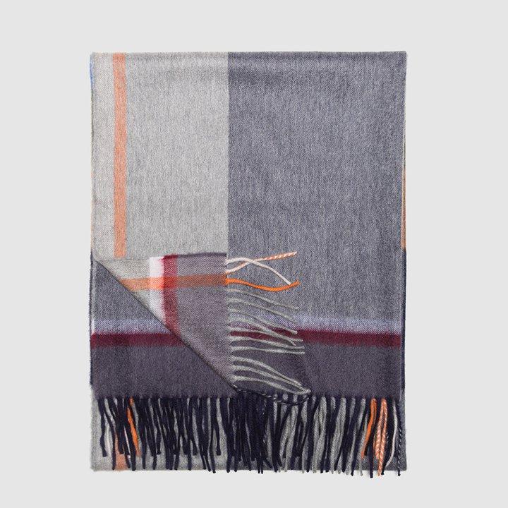 Bufanda de cashmere a cuadros multicolor de Begg & Co: piezas de cashmere