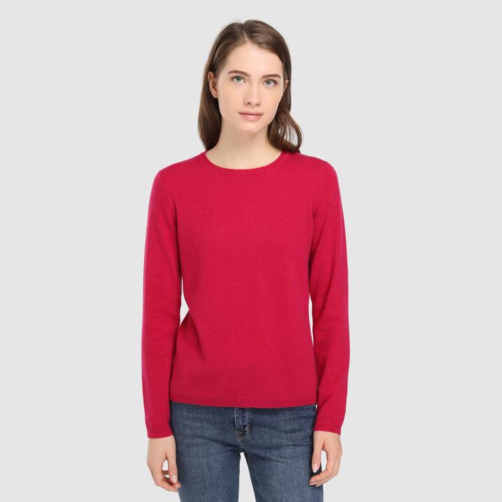 Jersey básico con cuello caja: piezas de cashmere