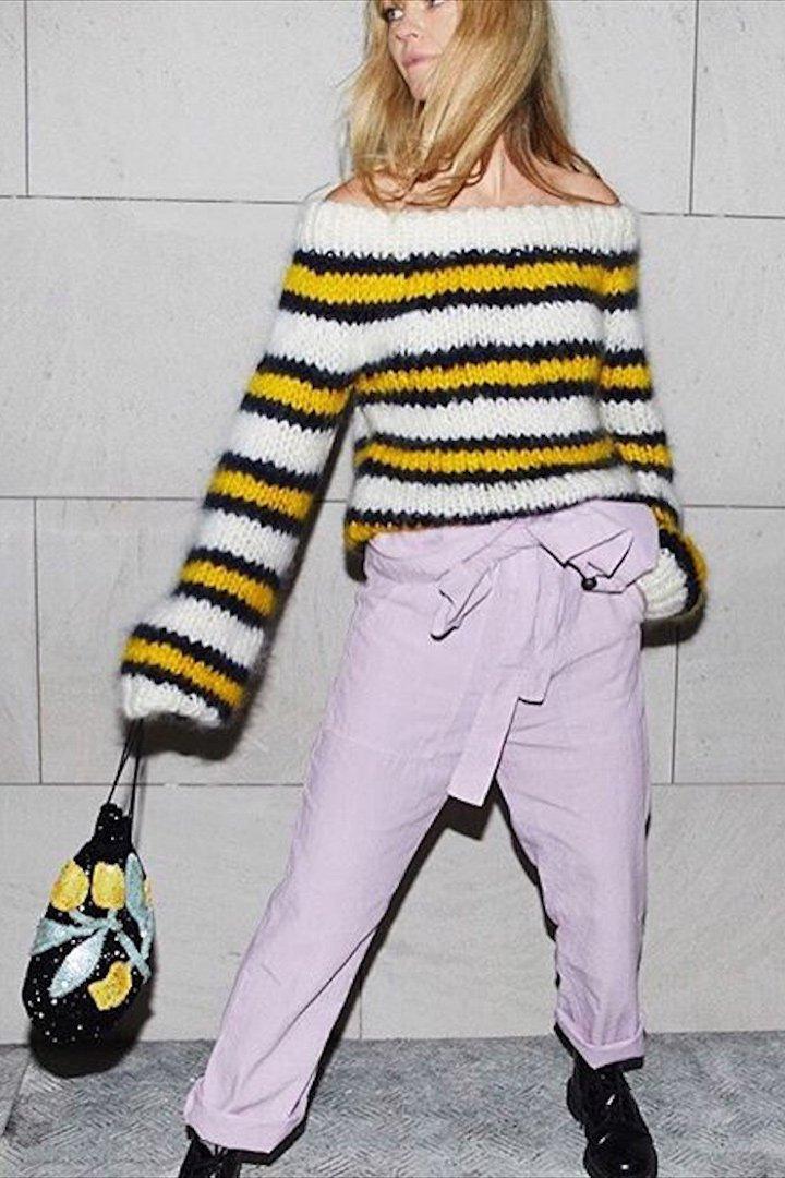 Jeanette Friis Madsen pantalon pinzas rosa