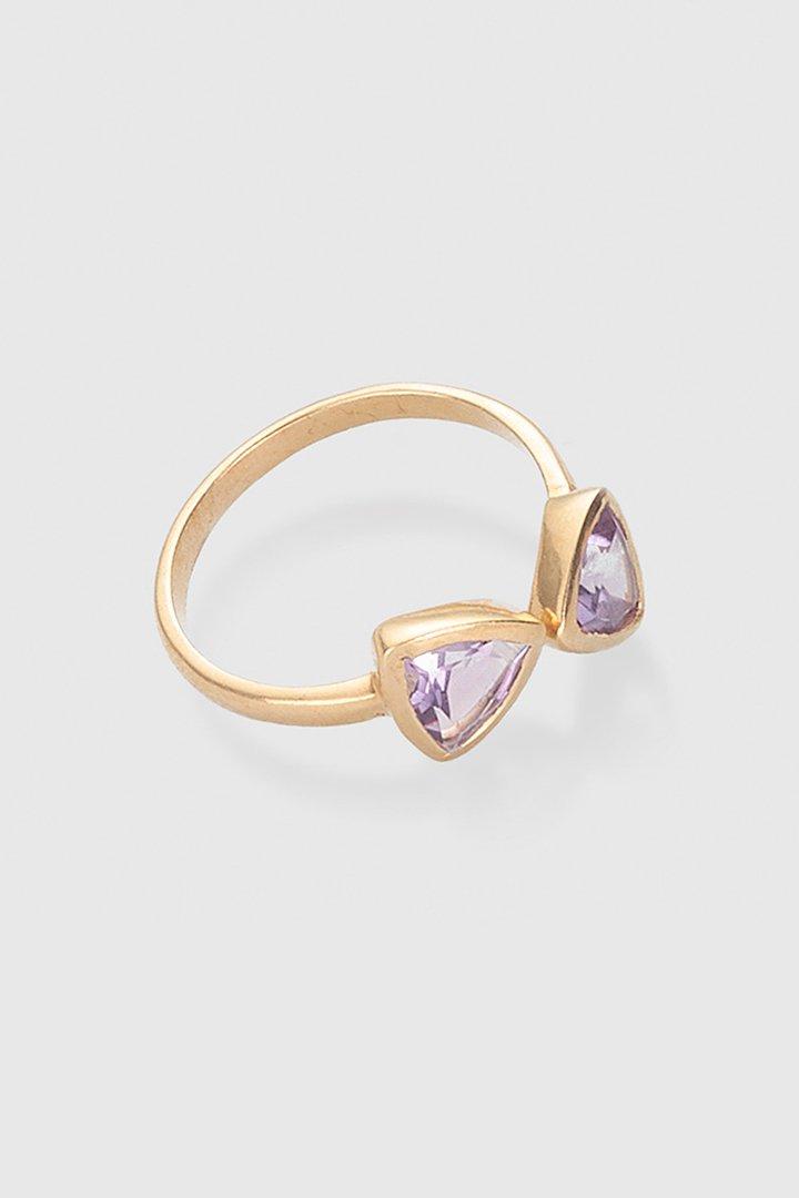 Accesorios de primavera: anillo con amatistas