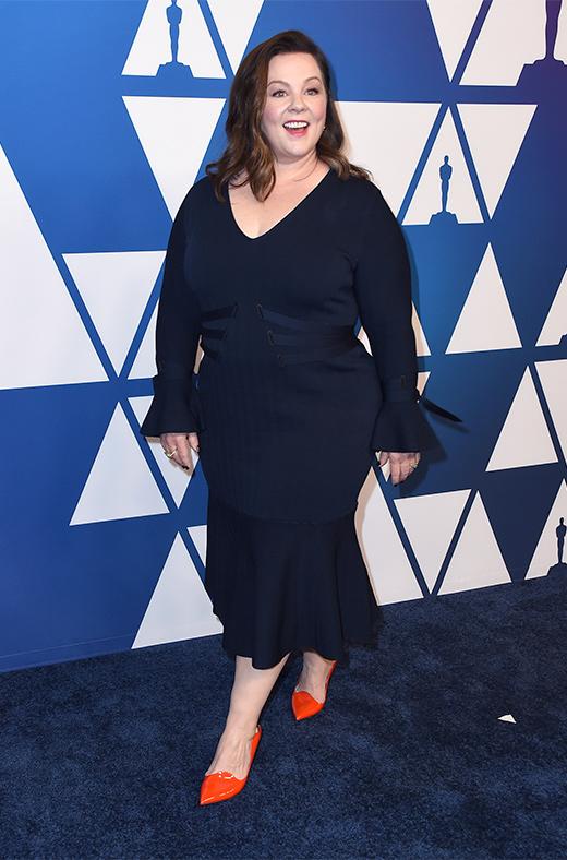 Melissa McCarthy en el amuerzo de los nominados a los Oscar 2019