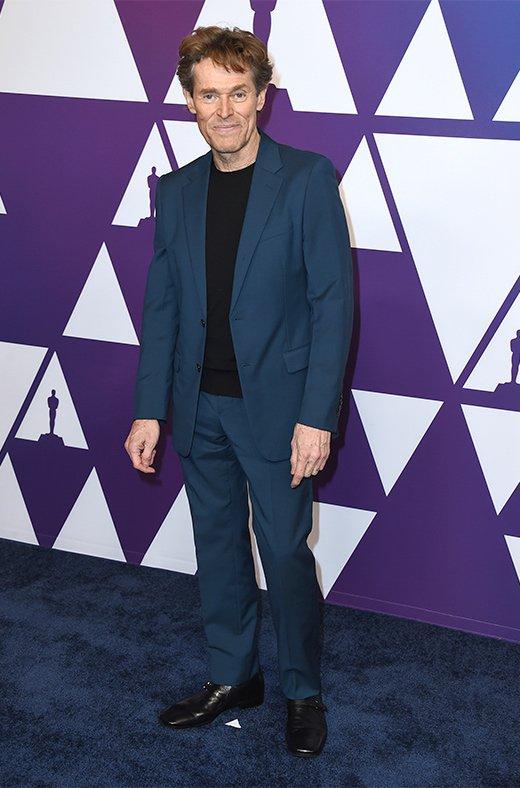 Willem Dafoe en el amuerzo de los nominados a los Oscar 2019
