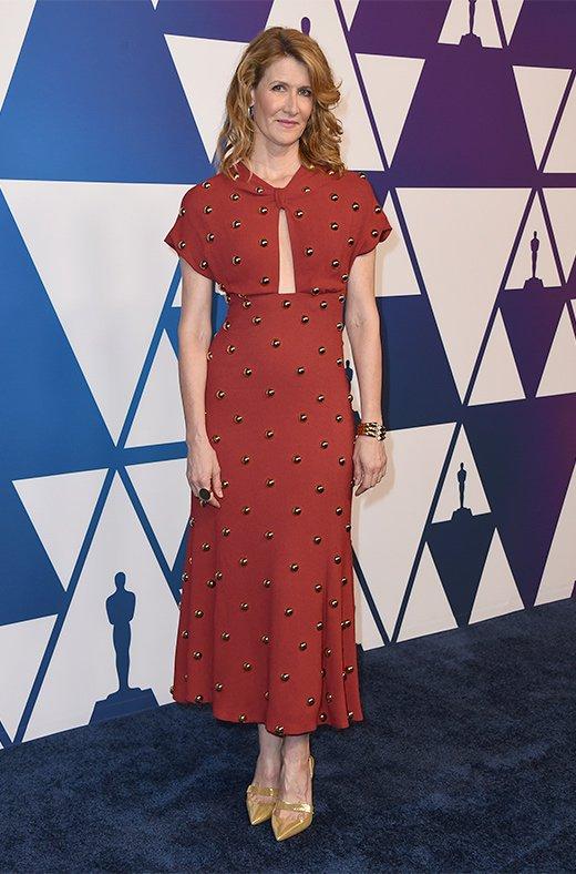 Laura Dern en el amuerzo de los nominados a los Oscar 2019