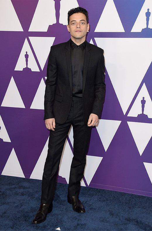Rami Malek en el amuerzo de los nominados a los Oscar 2019