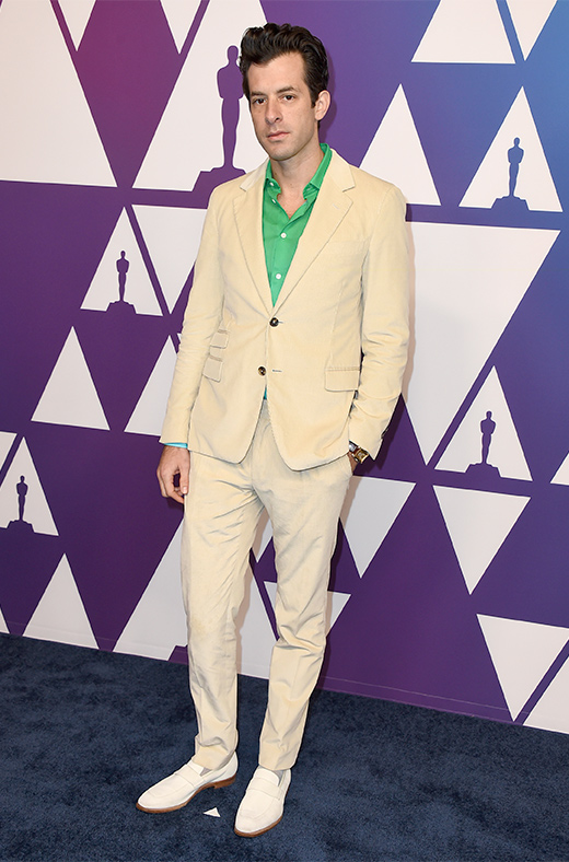 Mark Ronson en el amuerzo de los nominados a los Oscar 2019
