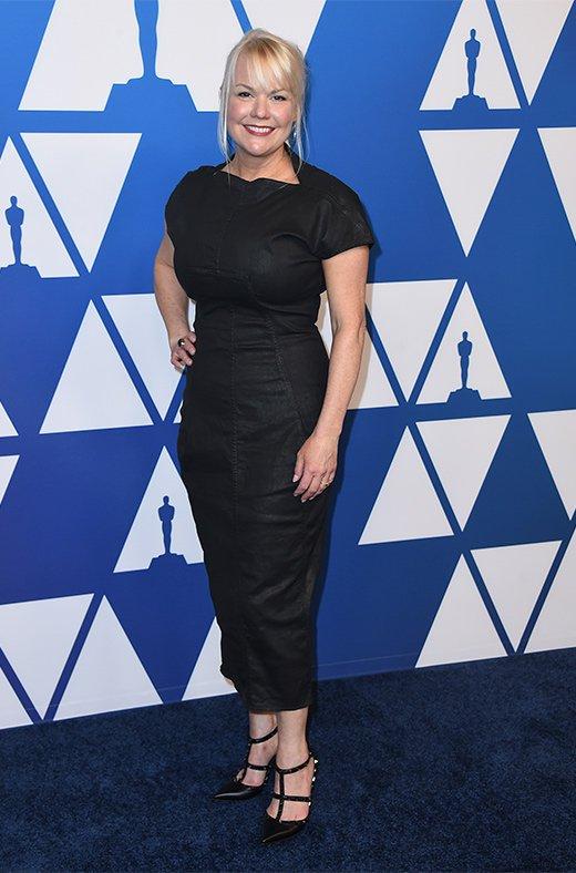 Shannon Dill en el amuerzo de los nominados a los Oscar 2019