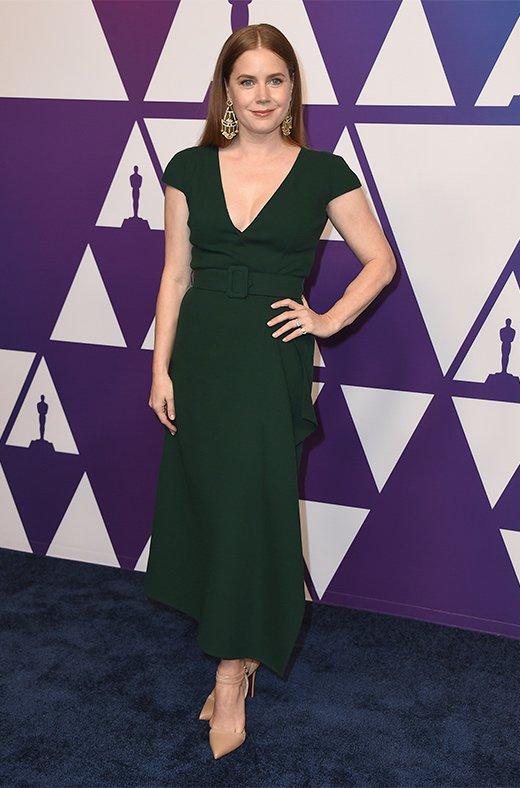 Amy Adams en el amuerzo de los nominados a los Oscar 2019