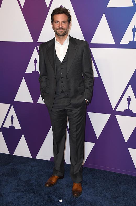 Bradley Cooper en el amuerzo de los nominados a los Oscar 2019