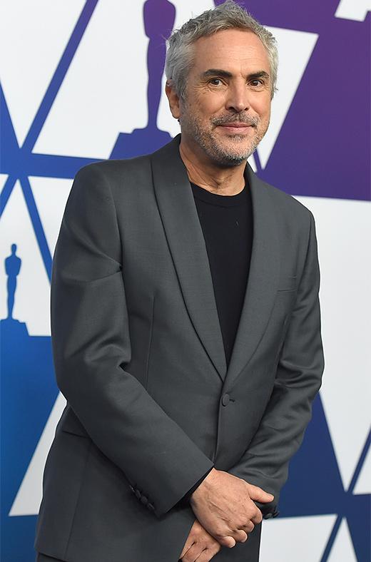 Alfonso Cuarón en el amuerzo de los nominados a los Oscar 2019