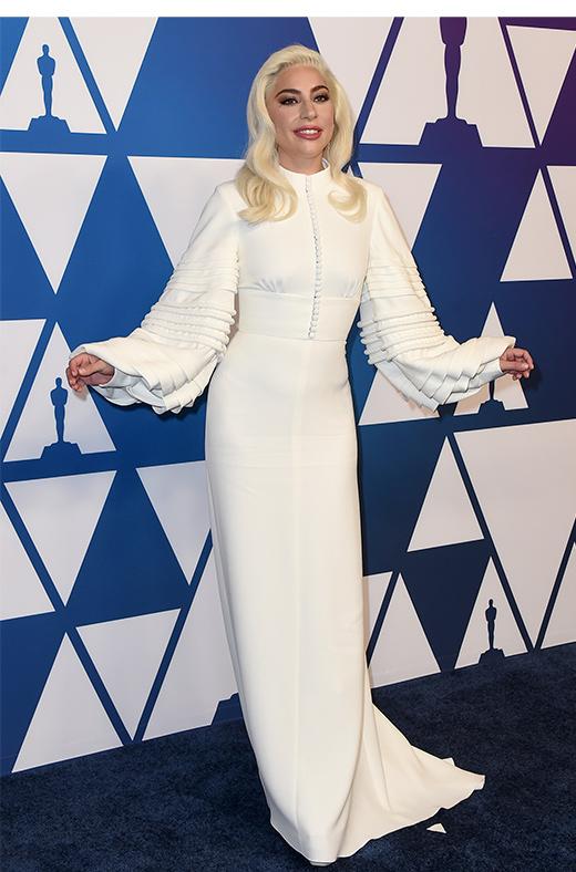 Lady Gaga en el amuerzo de los nominados a los Oscar 2019