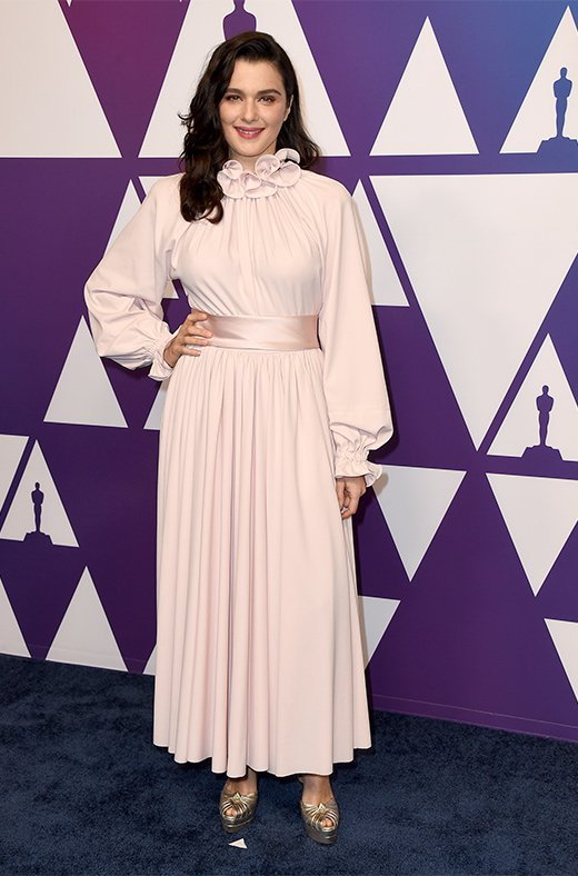 Rachel Weisz en el amuerzo de los nominados a los Oscar 2019