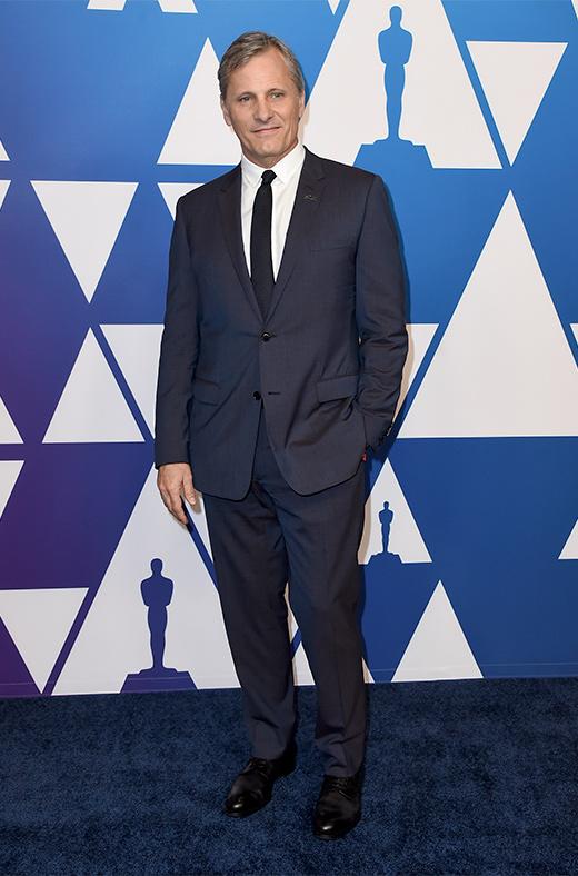 Vigo Mortensen en el amuerzo de los nominados a los Oscar 2019
