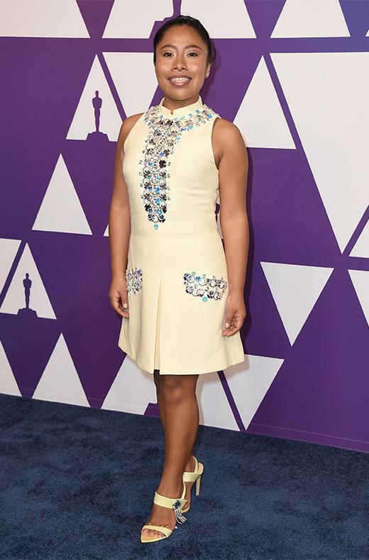 Yalitza Aparicio en el amuerzo de los nominados a los Oscar 2019