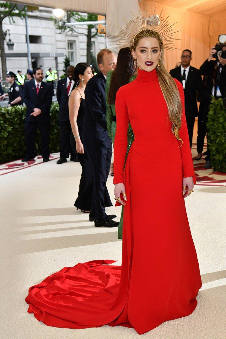 Amber Heard Looks Met Gala 2018