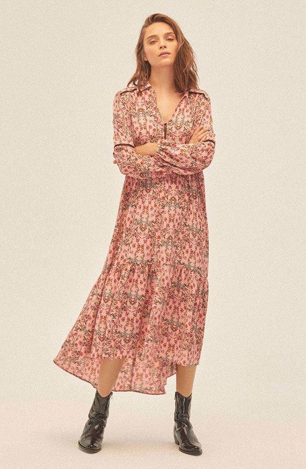 Vestido de flores de Amichi: prendas estampados otoño