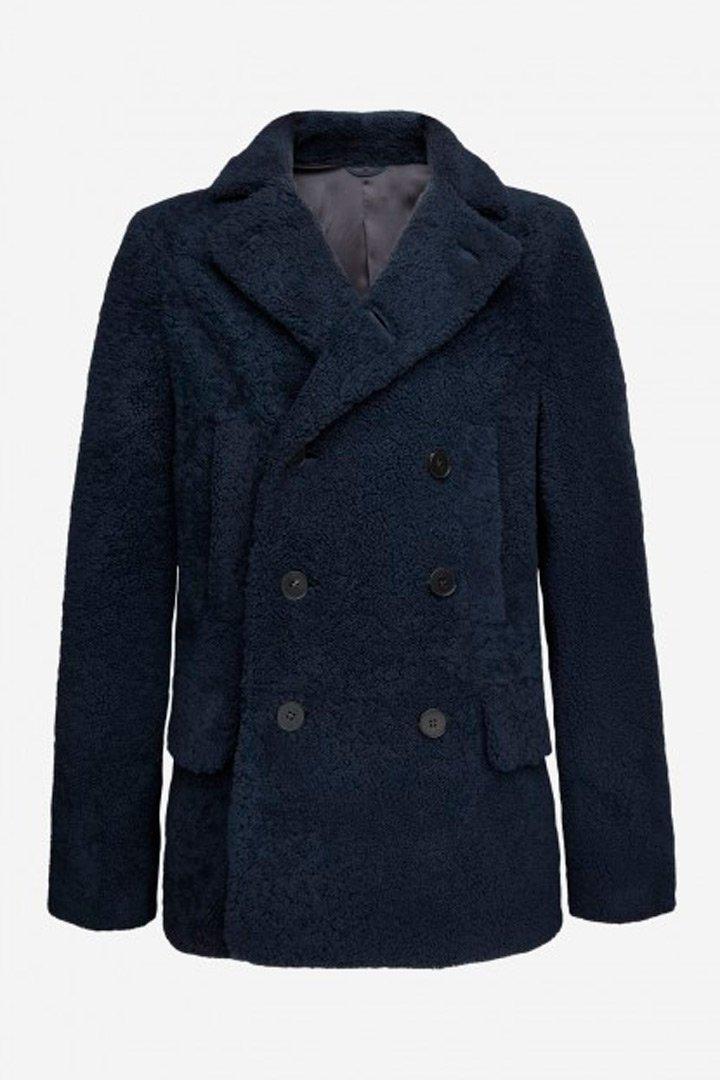 Abrigo borrego azul de Avellaneda