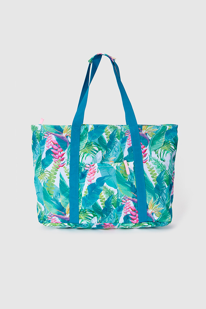 Bolsos de playa de estampado tropical