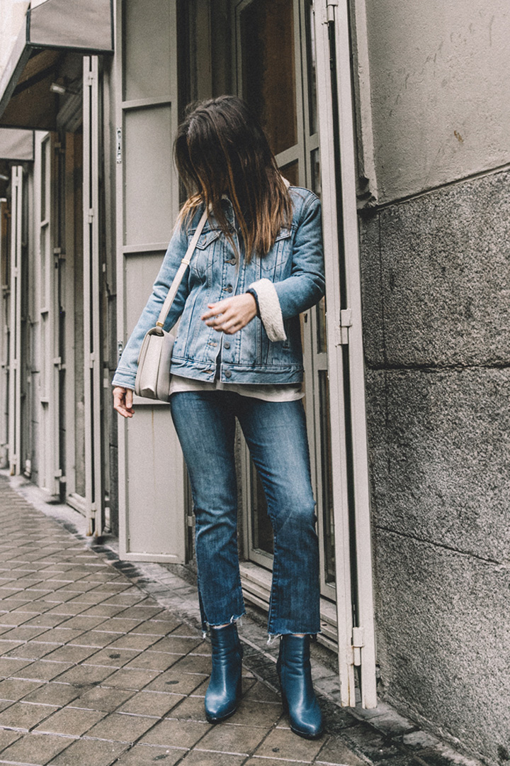 Collage Vintage con jeans