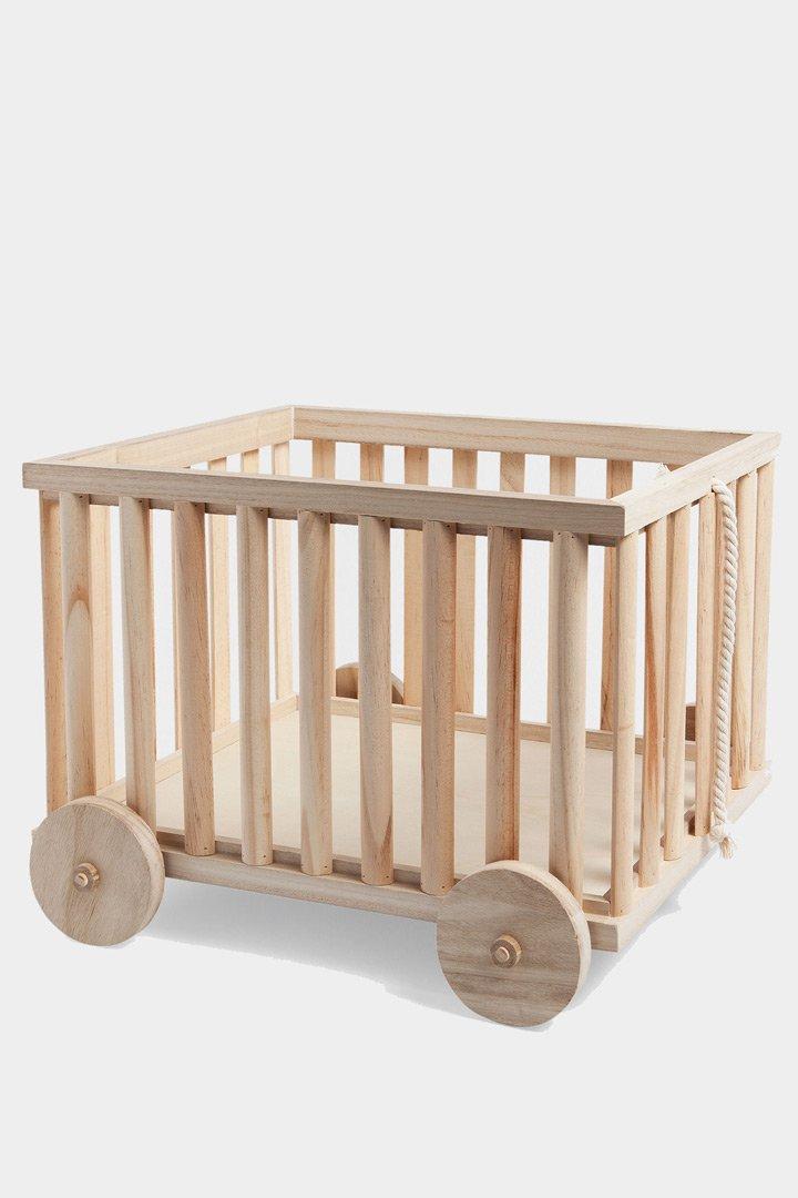 Carrito de madera de Zara Home almacenaje de juguetes