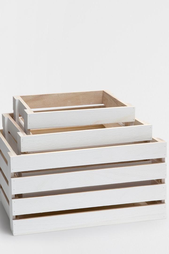 Cajas de madera Zara Home almacenaje de juguetes