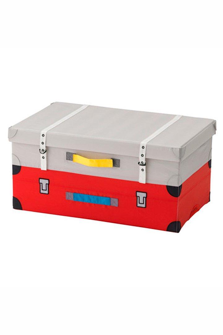 Caja forma de maleta de Ikea almacenaje de juguetes