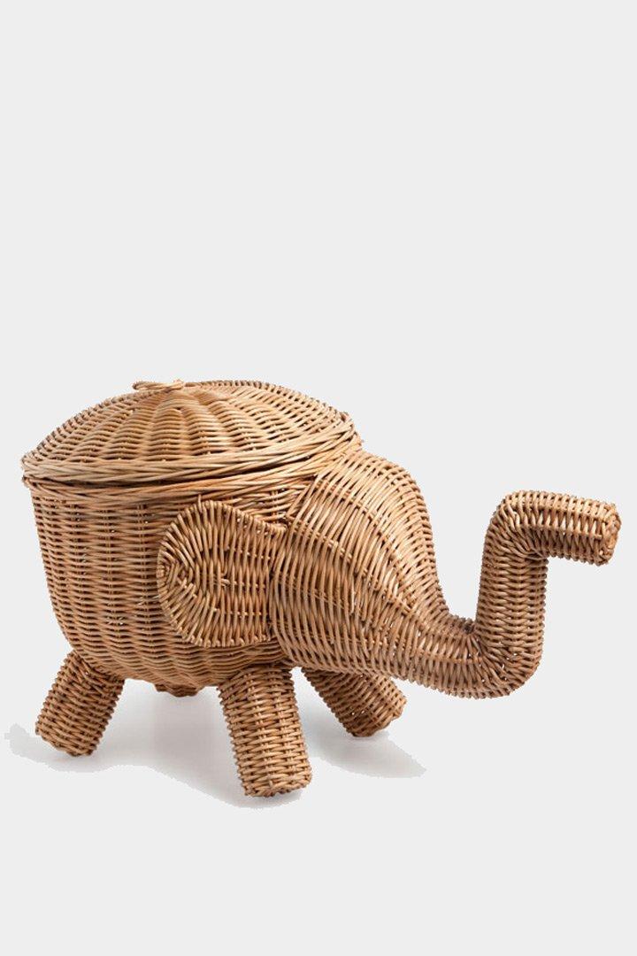 Caja de mimbre elefante de Zara Home almacenaje de juguetes
