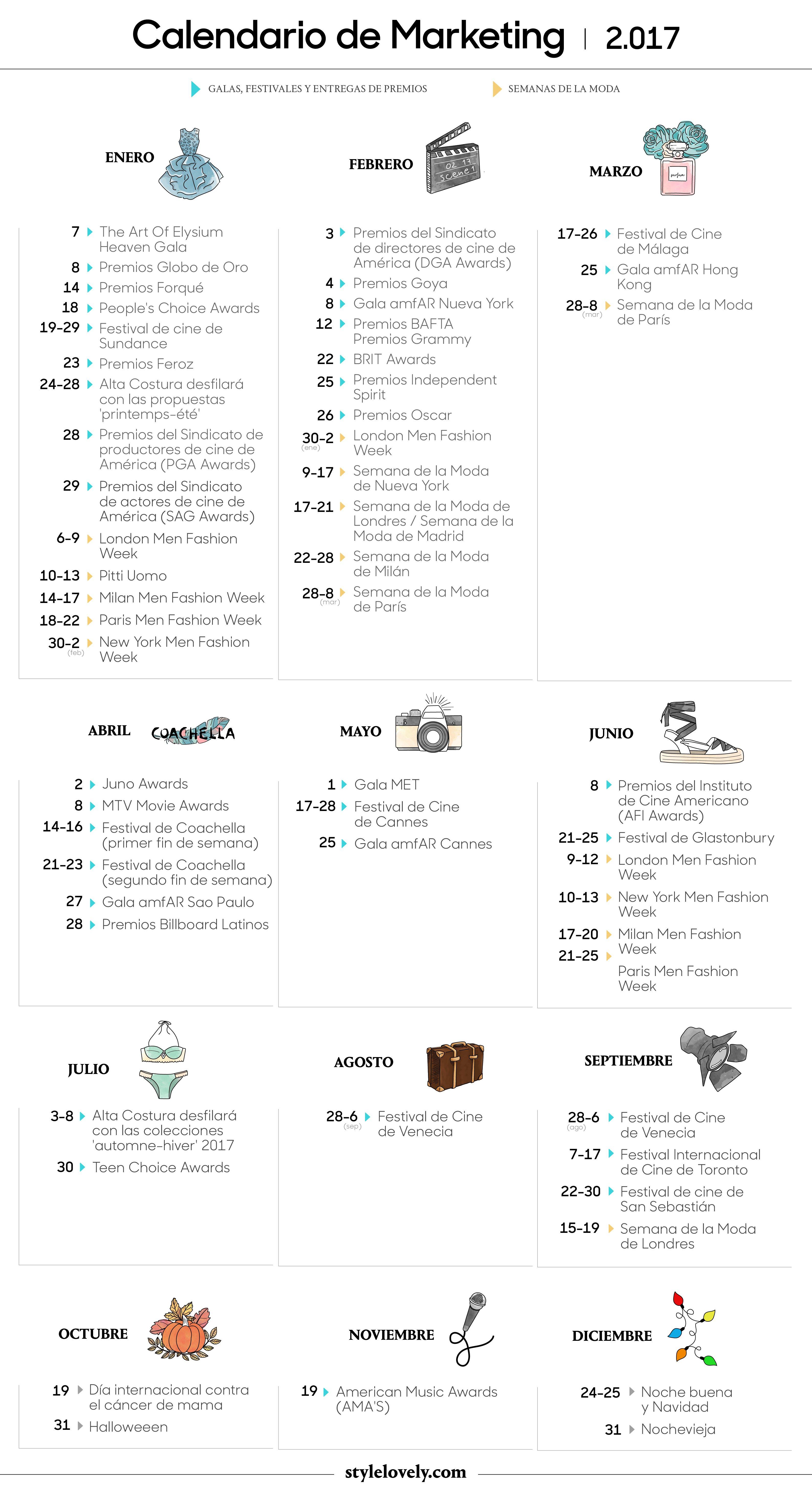 calendario de moda 2017