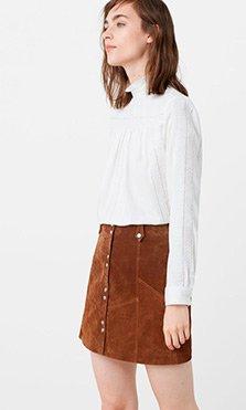 Camisa y falda básica de Mango