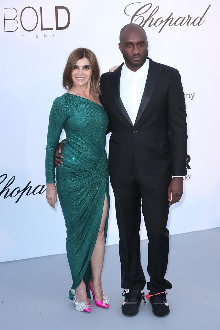 Carine Roitfled Virgil Abloh Gala amfAR 2018 Cannes