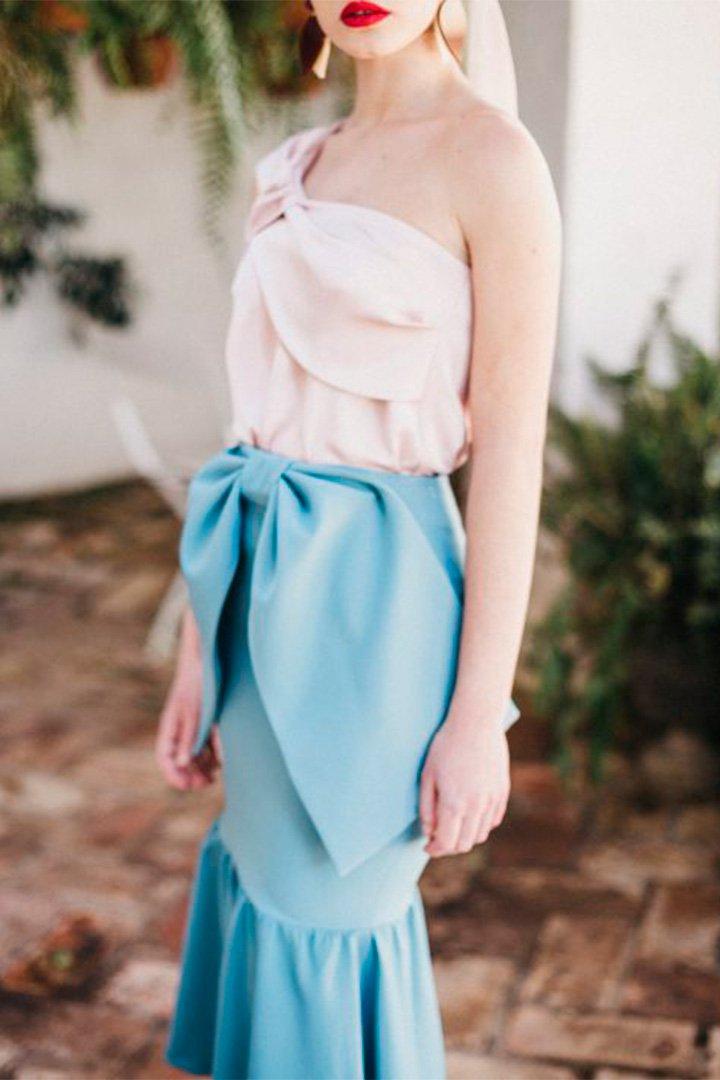 Falda celeste de Cherubina