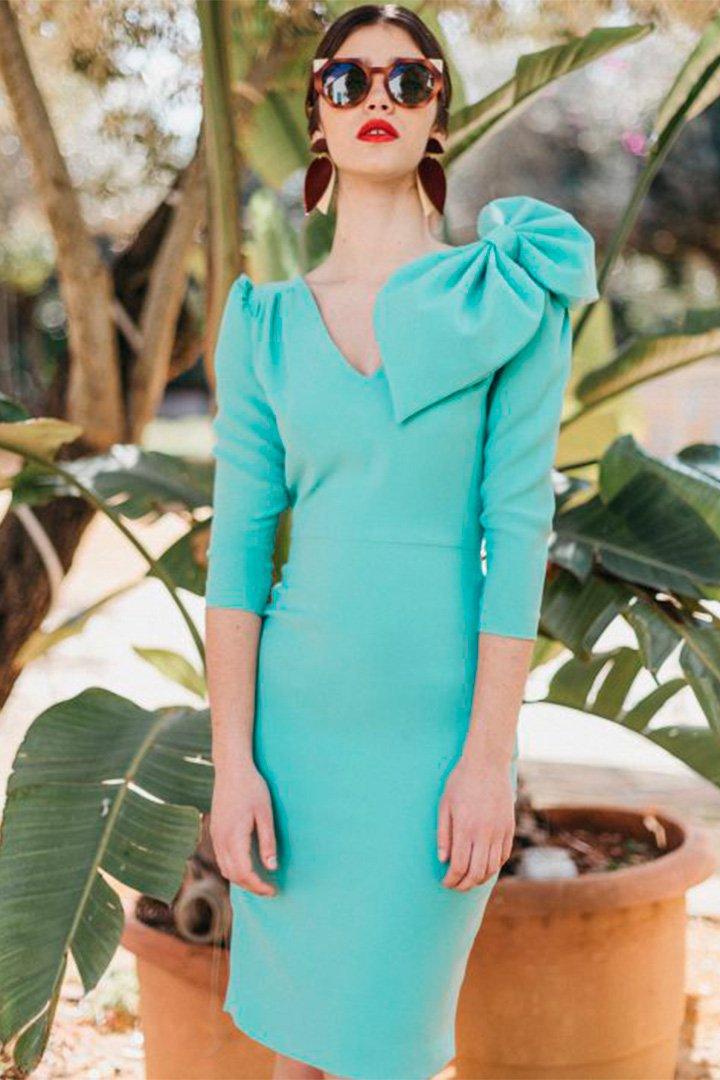 Vestido turquesa de Cherubina