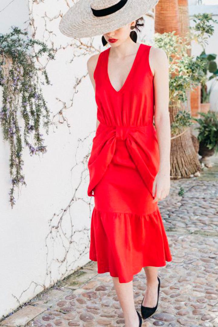 Vestido rojo de Cherubina