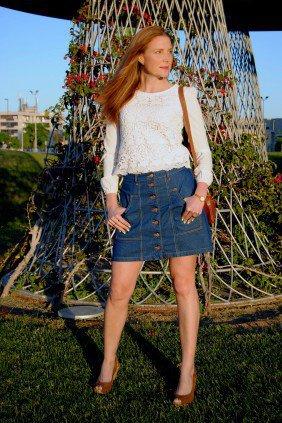 Colourvibes, falda abotonada