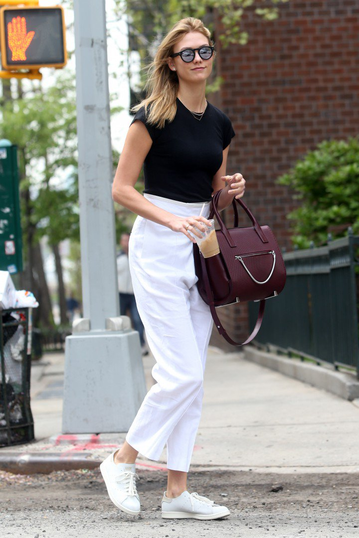 Model Karlie Kloss in New York City, New York on April 25, 2016.